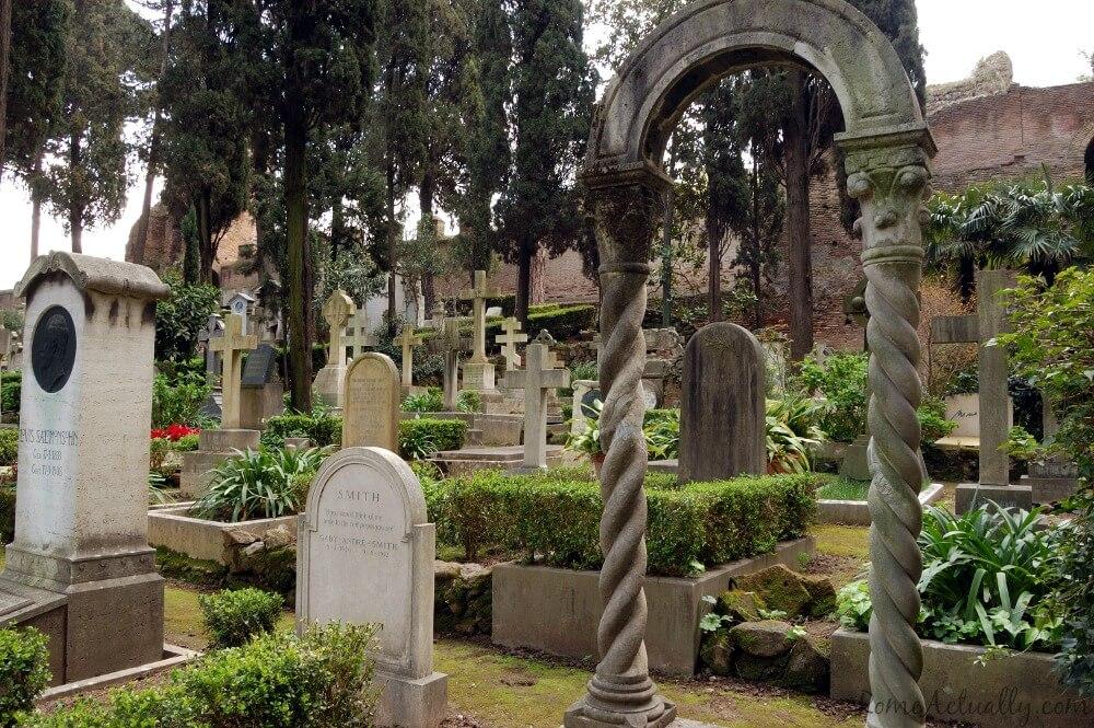 non-catholic cemetery testaccio rome