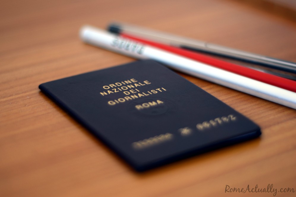 After apprenticeship and public examination, I got the press card and enrolled in the Italian registry for journalists.