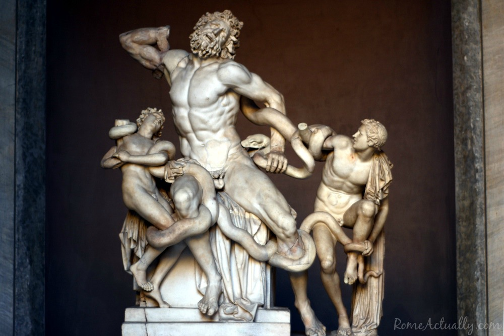 Laocoon sculpture vatican museums