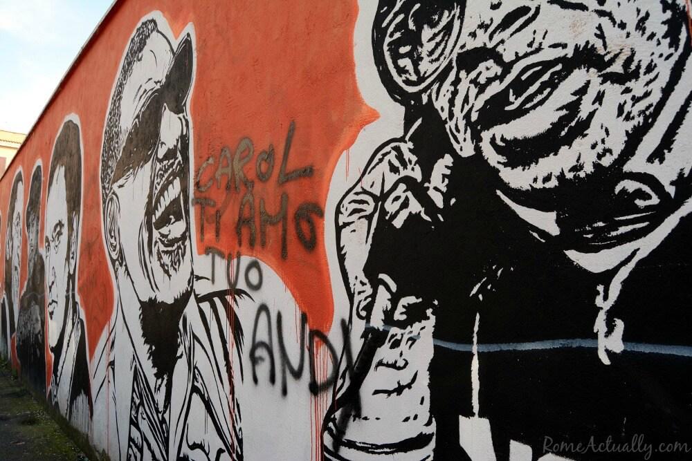 Image of Rome Ostiense street art