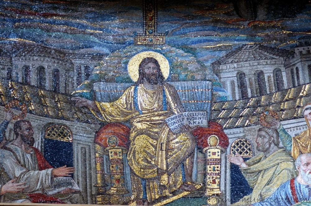 Santa Pudenziana basilica's main mosaic