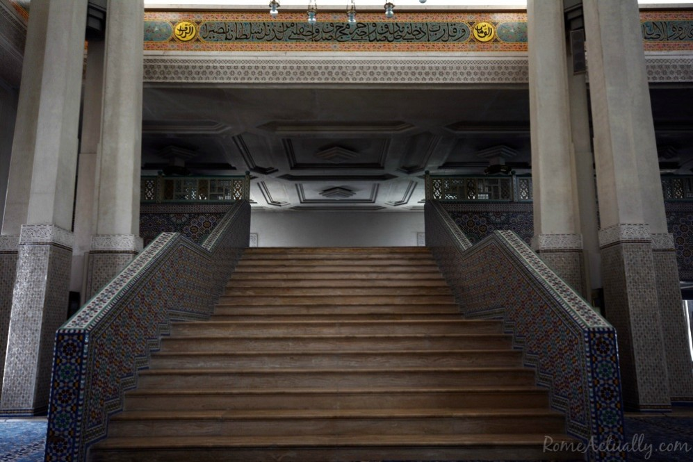 Stairs to the women's praying area