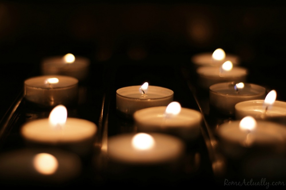 One candle lighted up for each soul