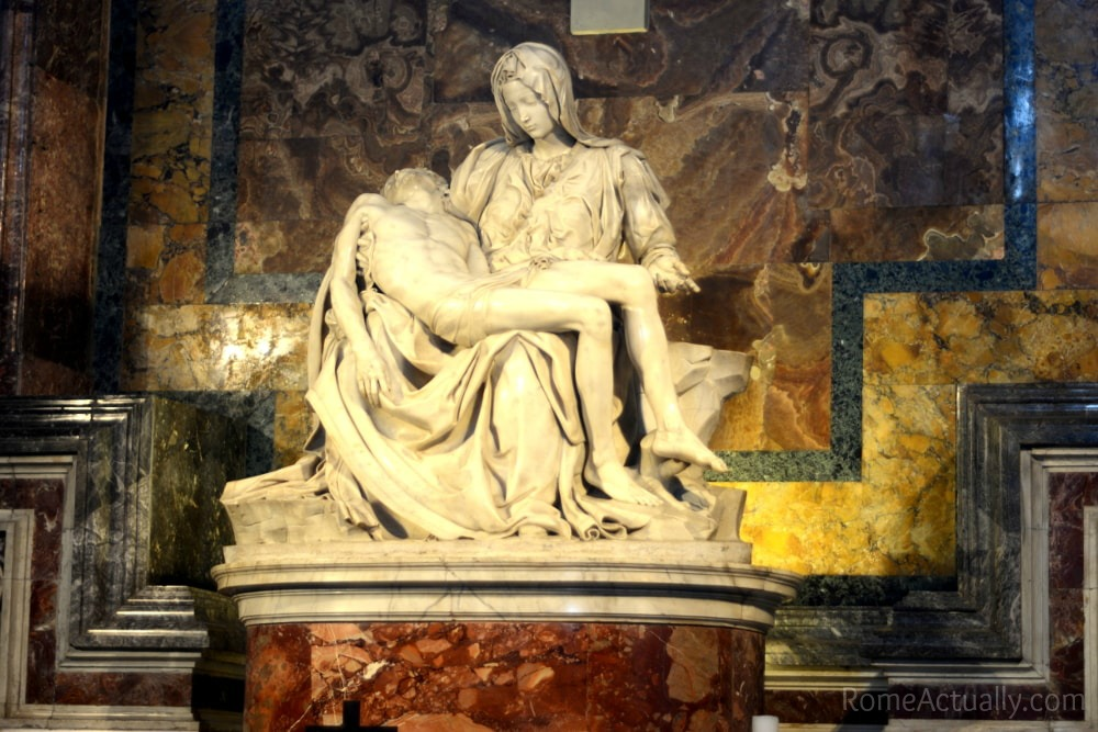 Visiting the Vatican City, Michelangelo's La Pietà