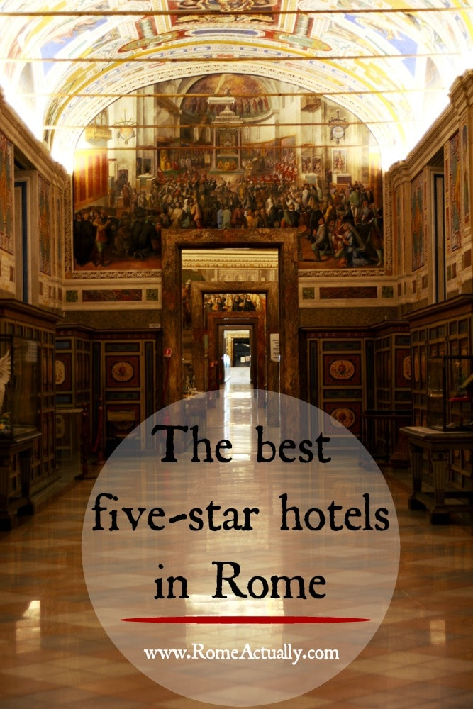 Reviews of the best five-star hotels in Rome
