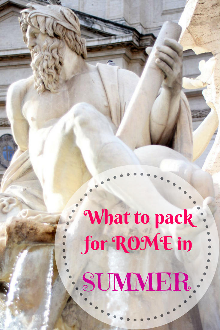 Rome summer packing list, what to wear in Rome in summer