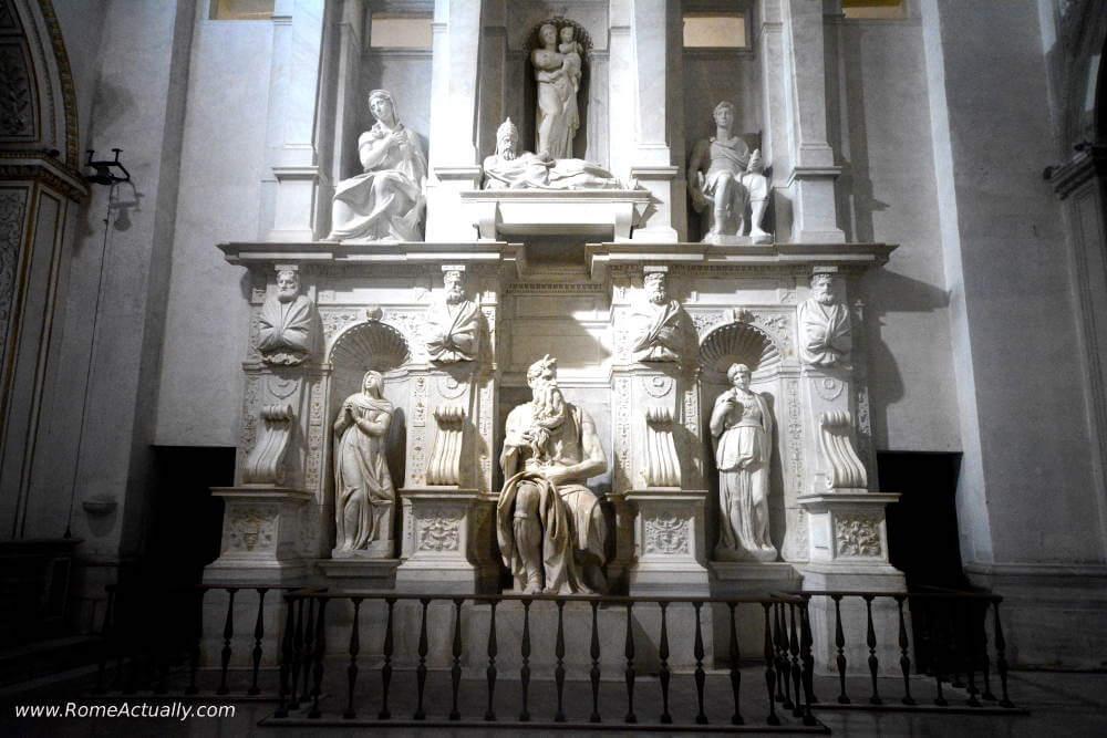 Michelangelo's Moses at San Pietro in Vincoli Basilica in Rome