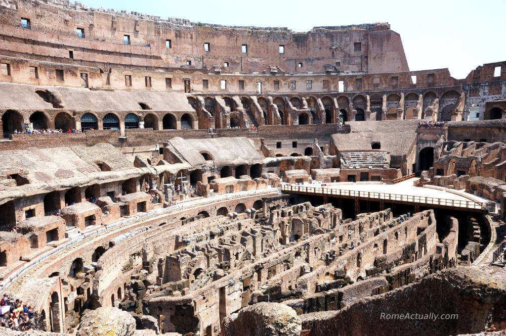 rome Colosseum spectators' stands