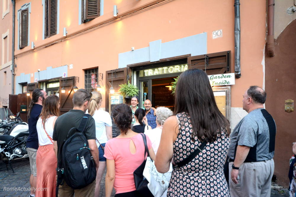 dinner trastevere food tour