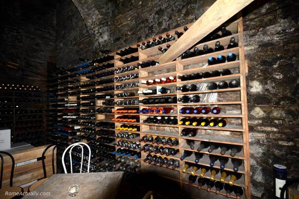 spirito di vino restaurant trastevere walking tour rome