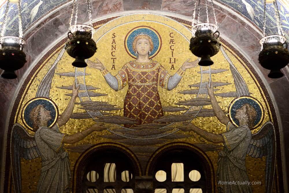 santa cecilia in trastevere basilica what to see in trastevere