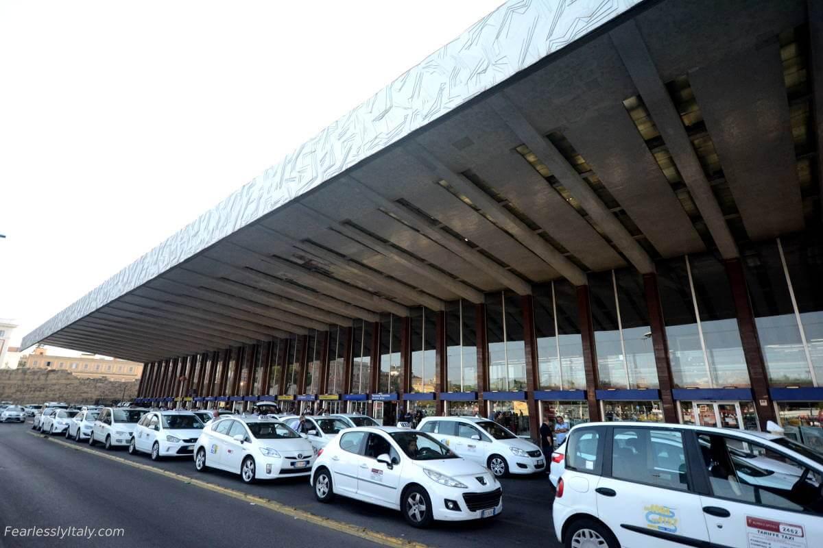 Image of Stazione Termini driving in Rome