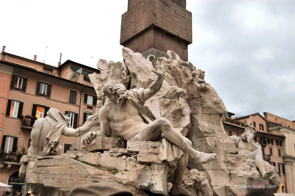 four rivers fountain rome piazza navona facts