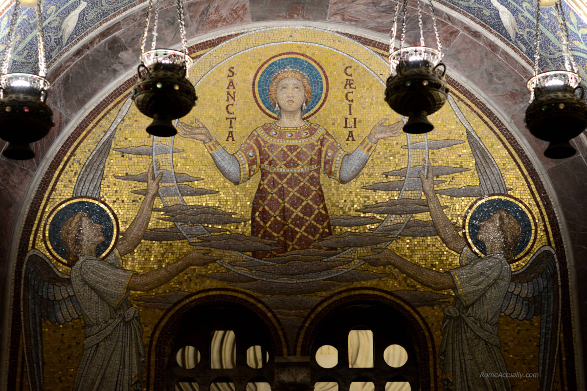 Image of Santa Cecilia in Trastevere Basilica