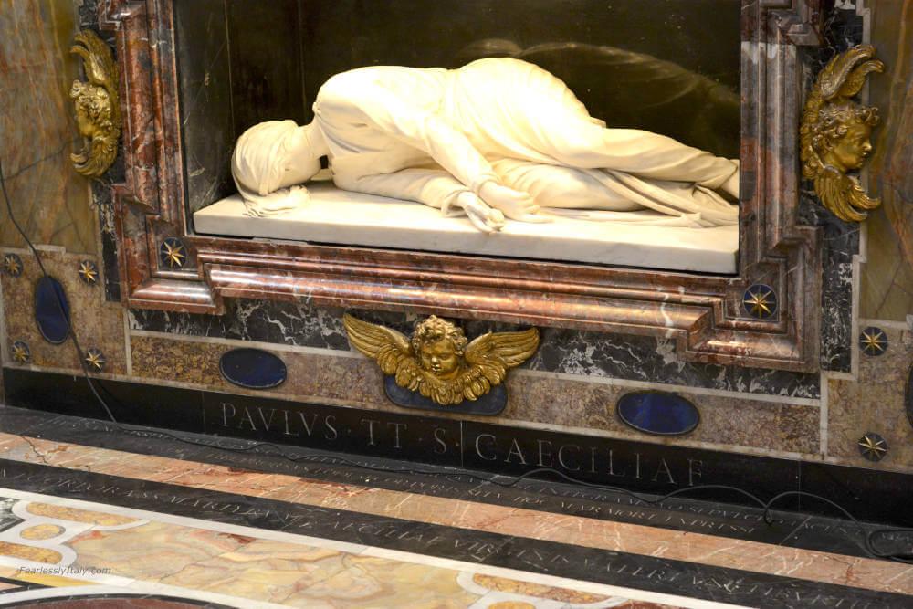 Image of St. Cecilia tomb in Santa Cecilia in Trastevere Basilica