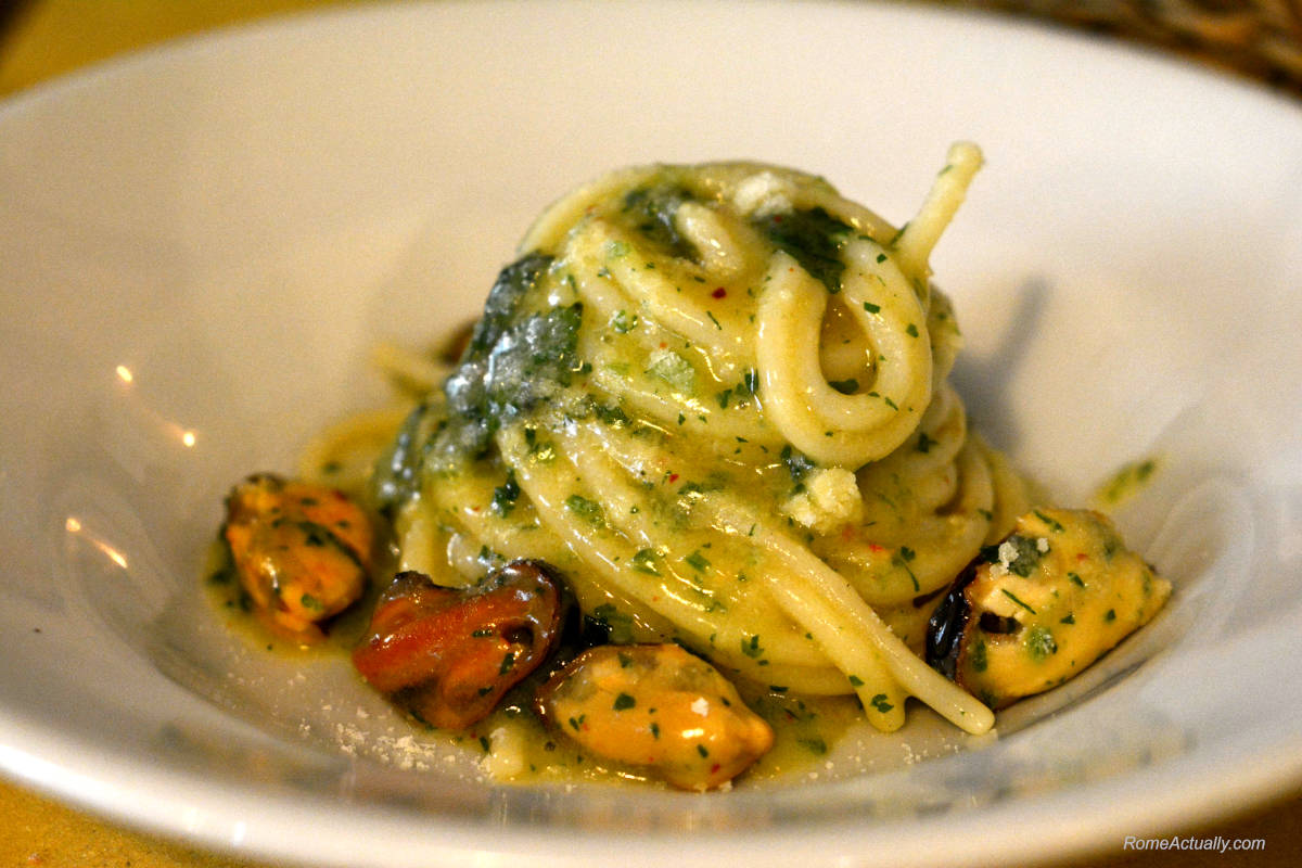 Image: pasta at best restaurants in rome
