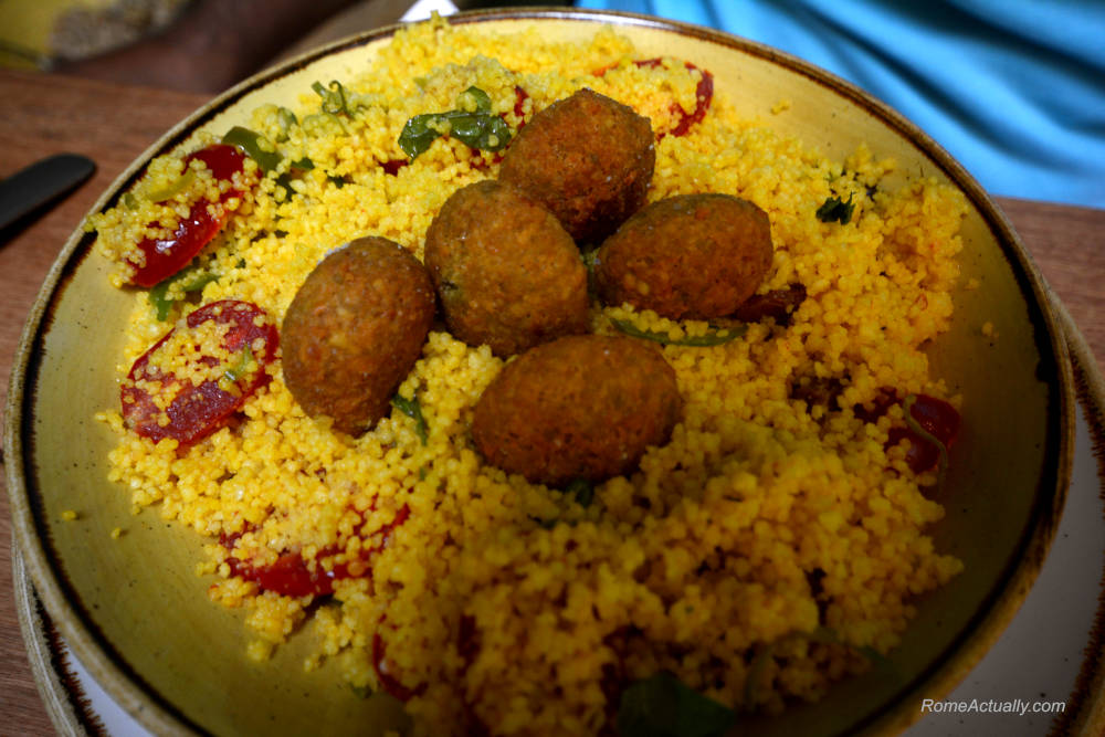 Image: Couscous salad at Aromaticus restaurant in Trastevere