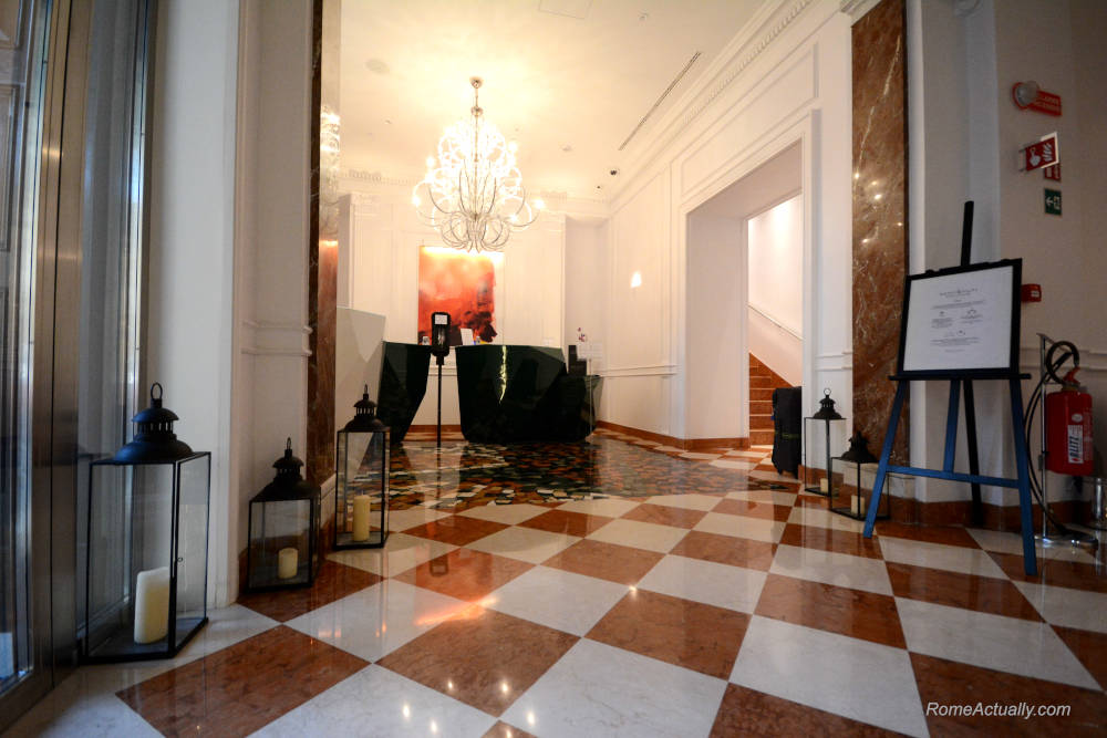 Image: Lobby of Sofitel Rome Villa Borghese