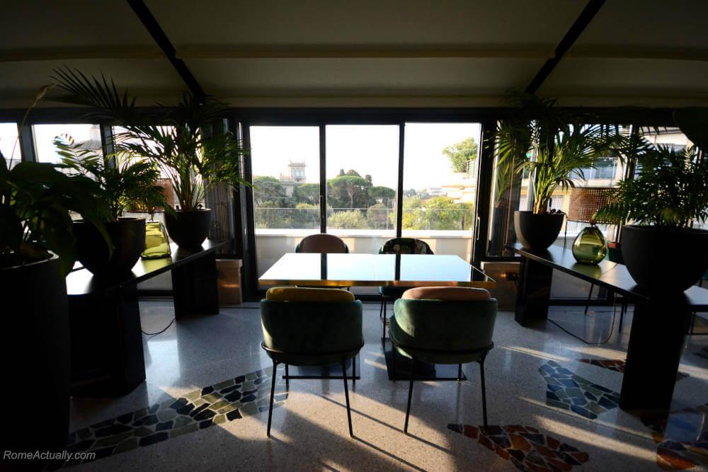 Image: View from Settimo restaurant at Sofitel Rome Villa Borghese Hotel