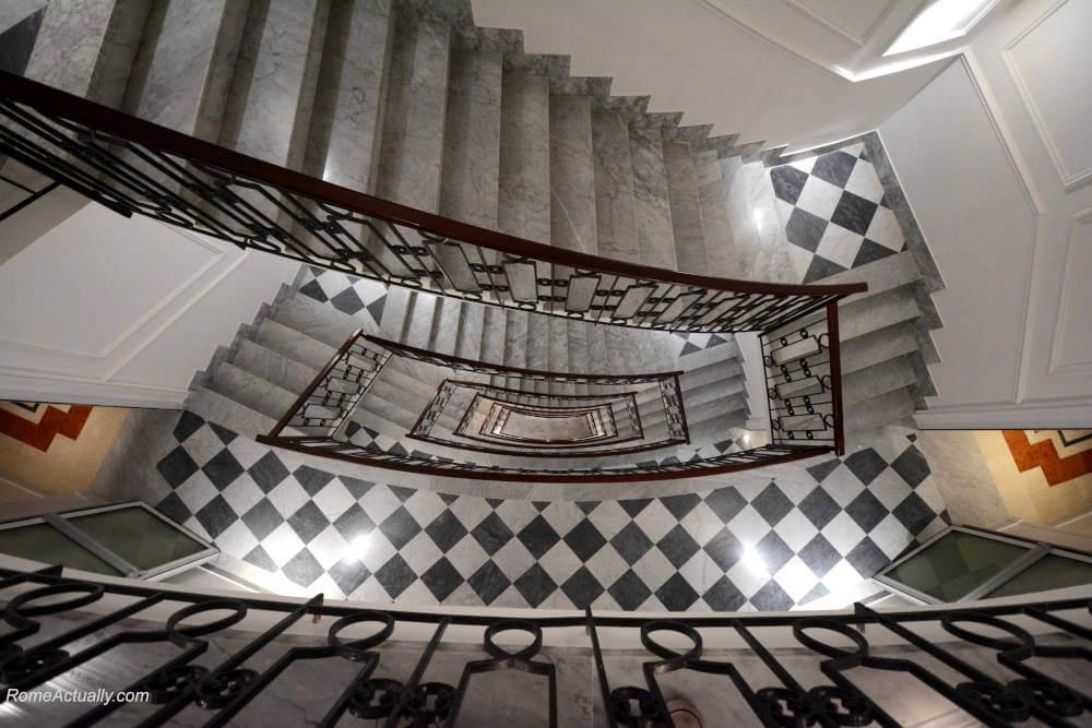 Image: Staircase of Sofitel Rome Villa Borghese