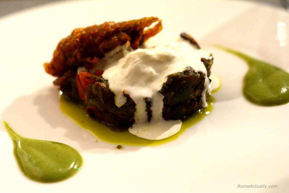 Image: Dish of Margutta vegetarian restaurant in Rome city center