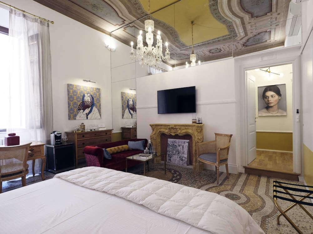 Image: Room Olimpia at Nobildonne Relais boutique hotel in Rome