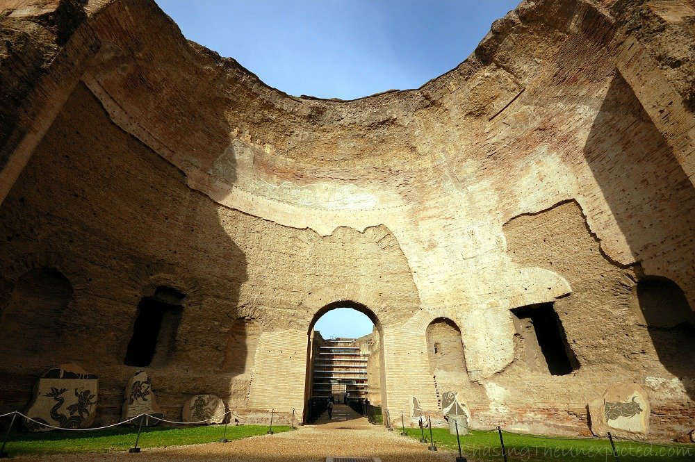 Image: Baths of Caracalla thermal complex in Rome
