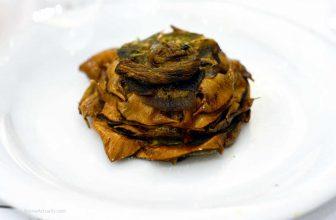 Image: carciofi alla giudia roman jewish fried artichokes