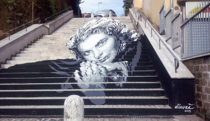 Popstairs, new street art project in Rome