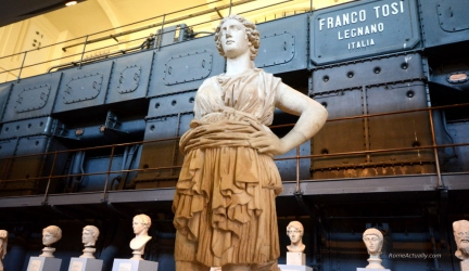 The charming Centrale Montemartini Museum in Rome's Ostiense